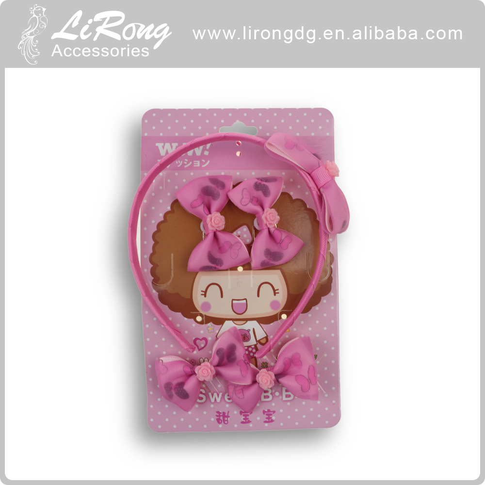 Wholesale flower kids hair accessory clips gift set