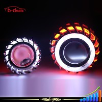 Factory Price Universal Double Angel Eyes Projector Lens With H1 Bulb HID Bi-Xenon Xenon Projector Lens