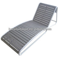 New Polwood aluminum sun lounge/Plastic wood chaise lounge outdoor furniture