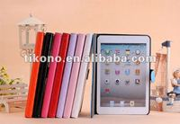 Foldind design PU leather case for iPad mini with Stand