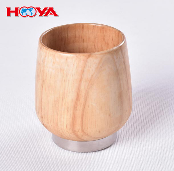 350ml Simple Modern Natural Wooden Cup Lightweight & Eco-Friendly Oak Water Cup