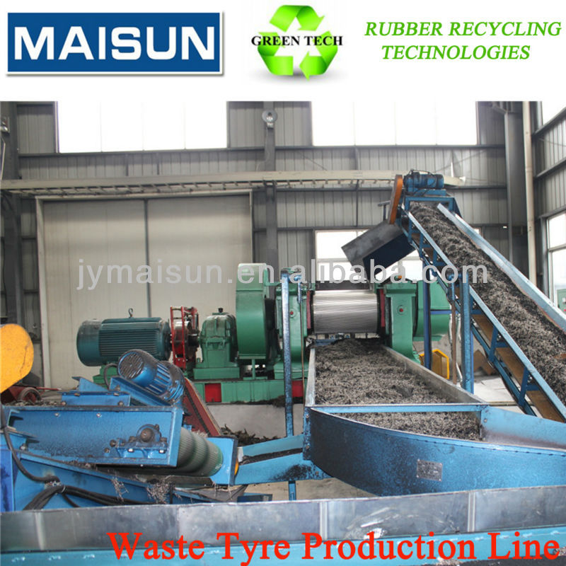 scrap tyre recycling machine plant