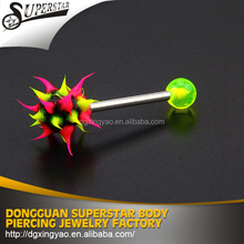 stainless steel barbell fake industrial piercing jewelry