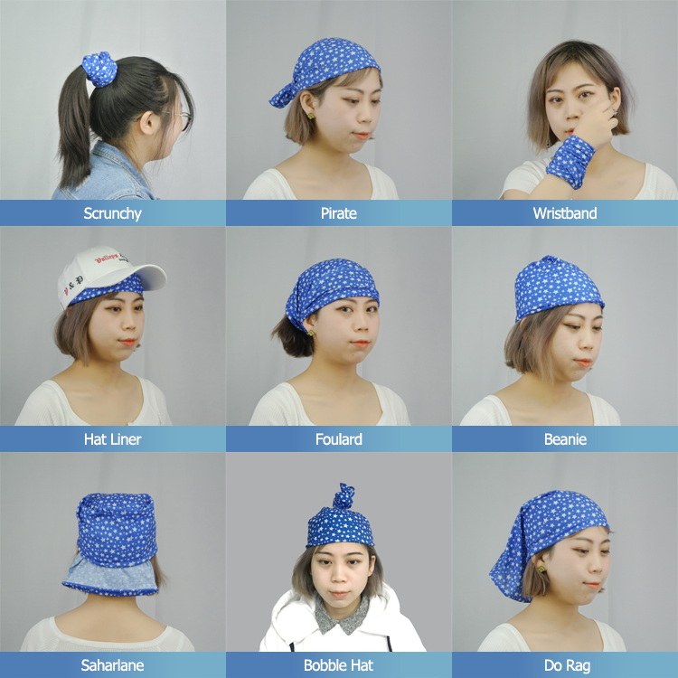 Heat transfer printing magic head wear bandana