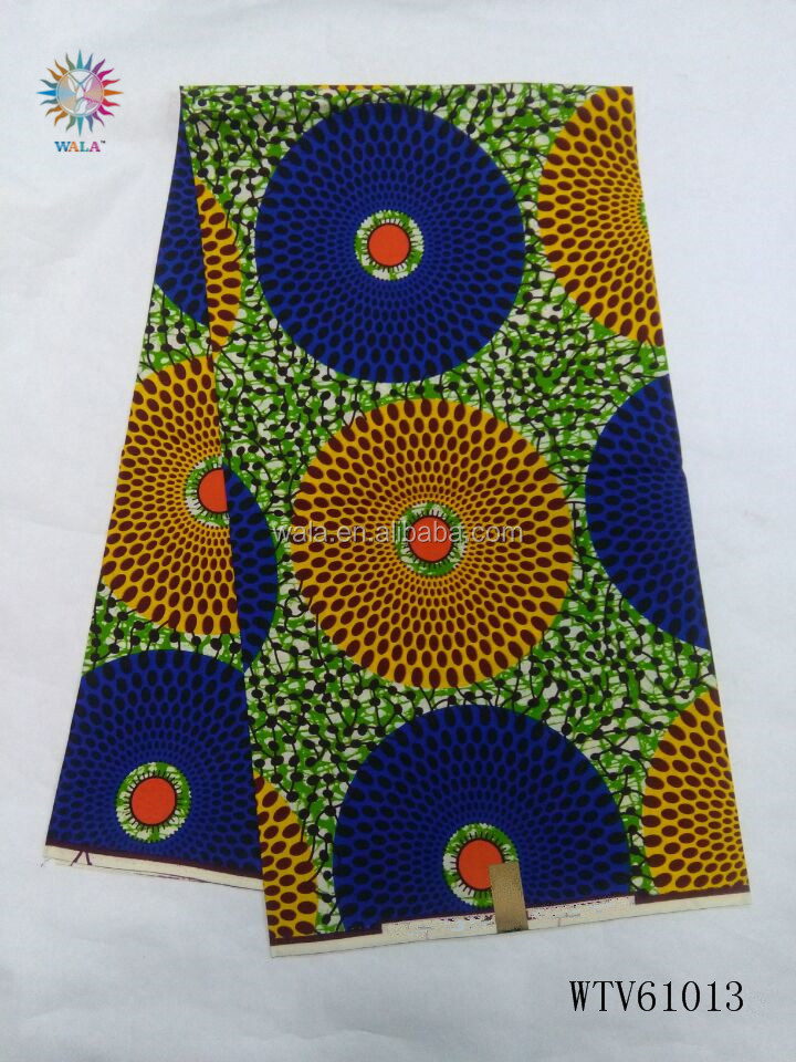 WTV61013- (14) New model african super wax hollandais printed fabric lovely ankara fabrics for sewing