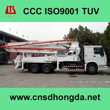 TLS Brand Concrete Boom Pump HDT5291THB-39/4 with 125m3/h Pumping Capacity for Sale
