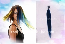 The colorful remy I-tip prebonded hair extensions in North American