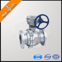 API WCB Ball Valve flanged building pipe 4'' Ball Valve worm gear