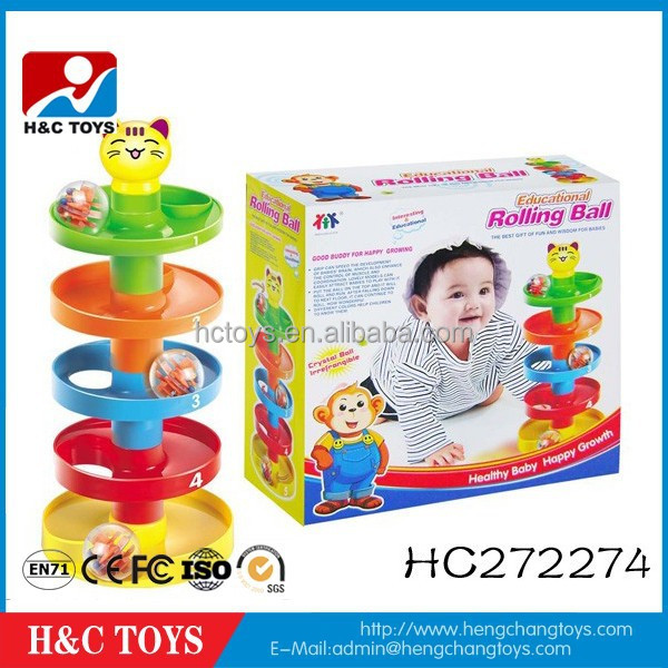 Education plastic baby rolling ball toy games funny baby toys for wholesale HC272274