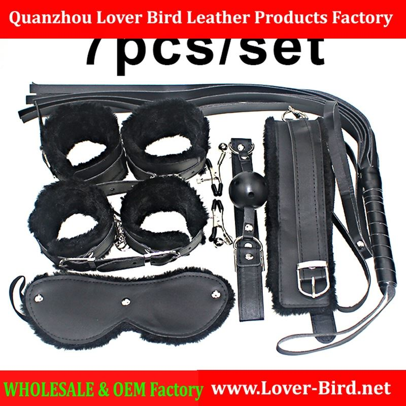 Hot Sale Sex Toy for Couples Cheap 7pcs/set Sexy PU Leather Flirt Toys Special Fetish Erotic Adult Games Items Sex Products