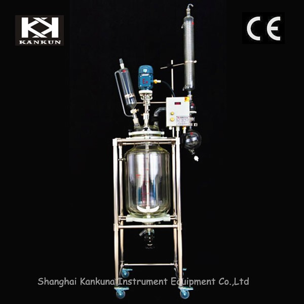 80L Jacketed Bioreactor ,Vacuum Pump, Cooling&Heating Circulator