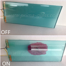 Prima SPD laminated blue smart film glass
