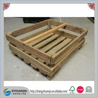 MEDIUM FRENCH GENUINE VINTAGE WOODEN GROCERS CRATE TRUG / BOX DISPLAY CASE CRATE
