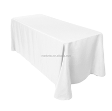 Rectangle Plain Table Cloth Cotton Wedding Dining Tableware Linen
