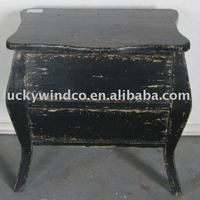 shabby chic black french wood distressed cabinet