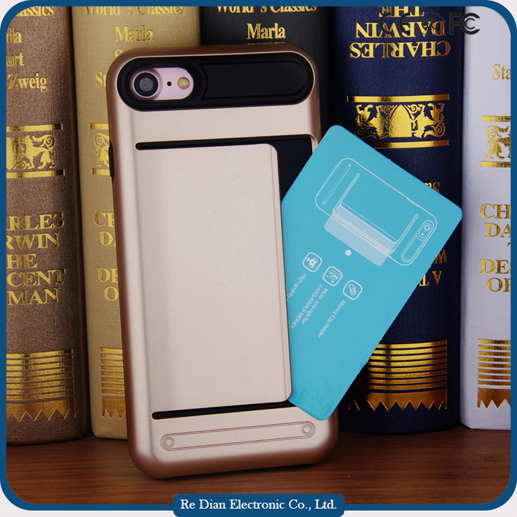 Insert card slot sublimation safety cover for mobile phone design mobile phone cover for iPhone 7