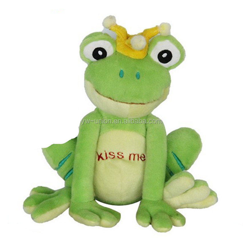 Big plush & stuffed frog animals Cute design custom 2016 hot sale