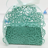 Laser cut paper candy box for wedding decoration
