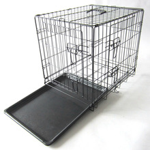Easily install and beautiful Steel Folding Dog Cage for breeding pets