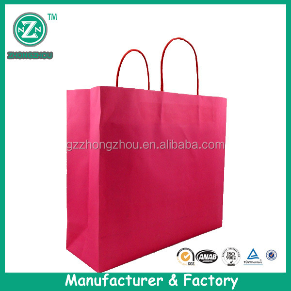 Cheap Brown Paper Bag with Handle/Brown Kraft Paper Bag for food packing