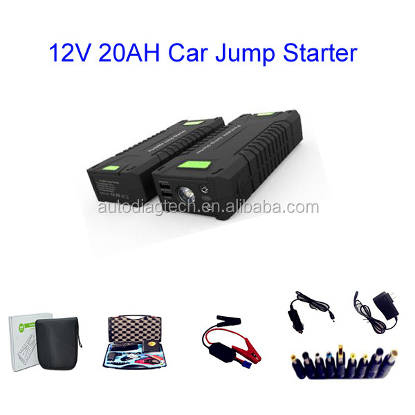 A+ Quality mini Car Jump Starter 20000mah 12V Portable Mini Engine Booster Emergency Power Bank car bank booster