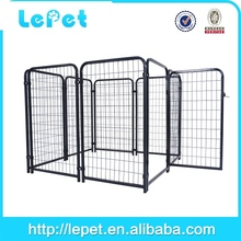 large outdoor chain link fence dog run