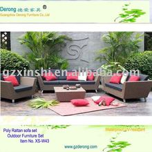 outdoor furniture patio garden use PE synthetic rattan/wicker sectional sofa set furniture