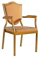 Arm rest stacking metal chair XA137