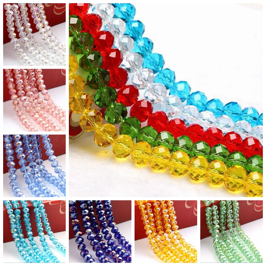 China bead manufacturers Faceted Rondelle Crystal Bead,Glass Bead,Glass Beads For Jewelry Making