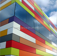 2016 high quality alucobond aluminum composite panel price in Dubai for wall cladding from China