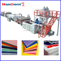 PP Hollow Corrugated Sheets Extrusion Machine for making indoor outdoor signage