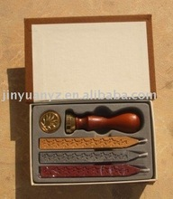 Stamp/Wooden stamp/wax seal set for gift