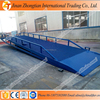 8t 10t capacity mobile loading ramp warehouse used moveable yard ramp price