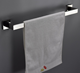 Factory price stainless steel chrome single towel rack for bathroom