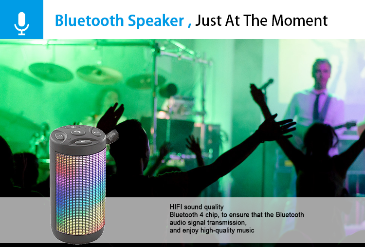 Free sample 1800 mAh 3W pulse micro mini led bluetooth speaker With TF USB FM Mic Bluetooth