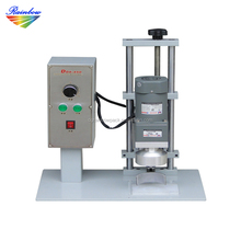 Tabletop semi automatic glass jar capping machine