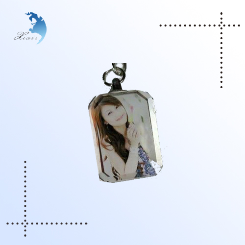 2014 New fashion clear acrylic 3d mini digital Photo Frame keychain