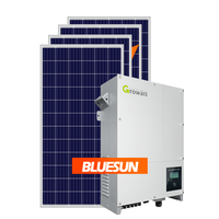 Bluesun solar+energy+systems on-grid power system 30kw 50kw 100kw solar electricity generating system