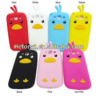 cute for samsung galaxy s3 silicon case With Antenna Hole