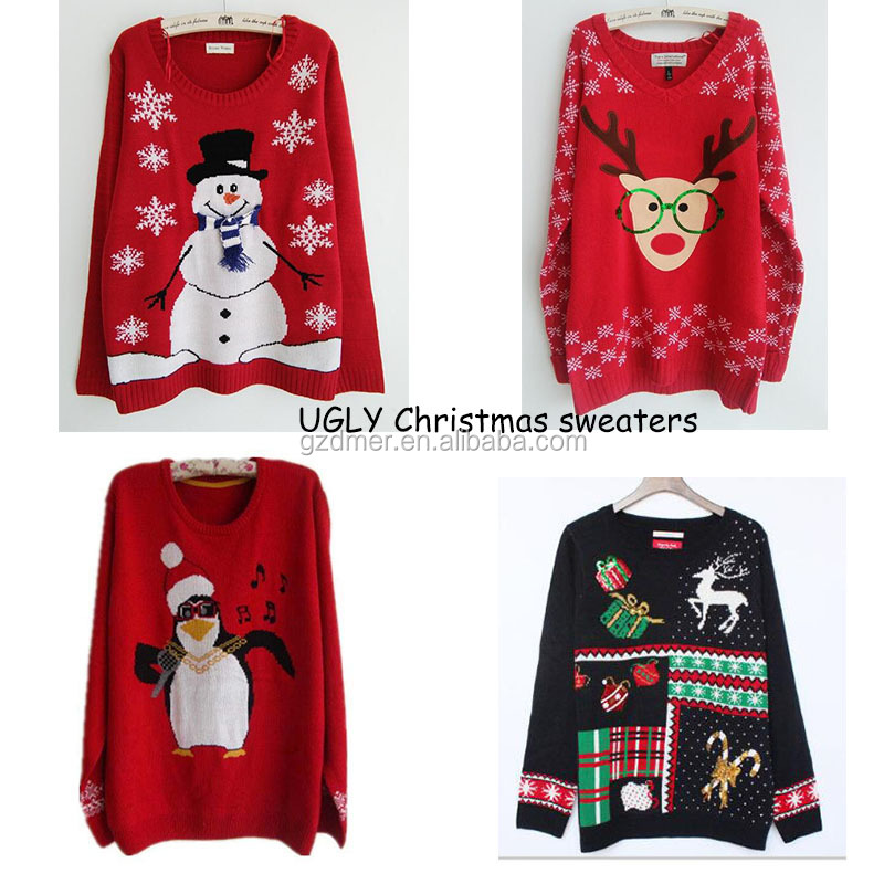Wholesale women Ugly Christmas sweater Christmas jumpers