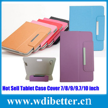 High Quality PU Leather Stand Case for 7 inch Tablet PC with Magnetic Buckle and Silicone Sucker Inside