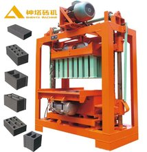 New Condition and Concrete Raw Material QTJ4-50 fly ash hollow block machine in philippines