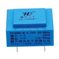 0.5VA , 230V , 220V power PCB mounting mini power transformer