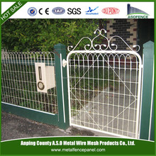 Decorative garden mesh woven wire yard fence