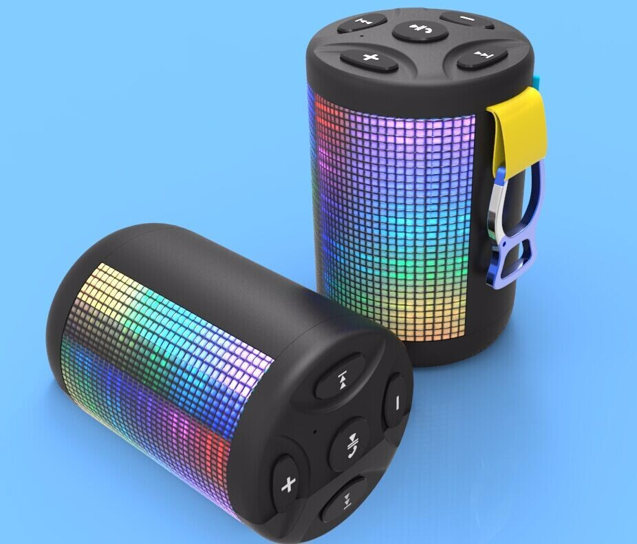 outdoor music mini portable waterproof wireless bluetooth speaker with led light