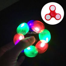 Wholesale Focus toys EDC led light fidget spinner toy, copper hand finger spinner,Custom logo