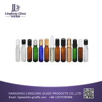 3ml perfume empty glass bottle with roller ball for essential oil