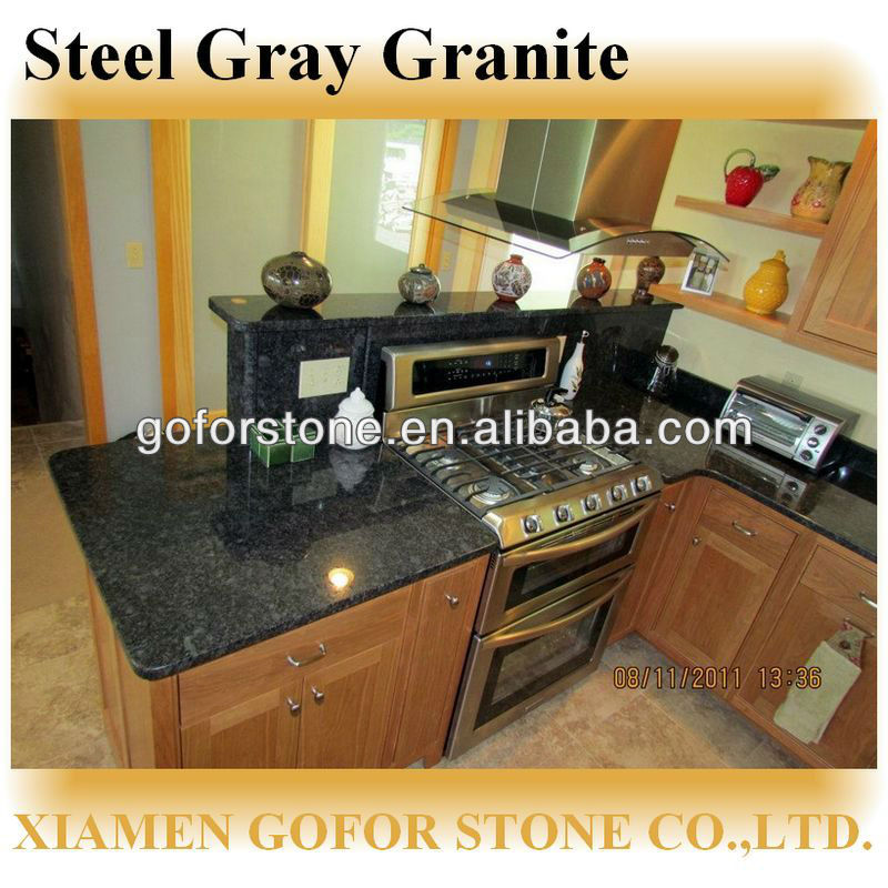 High quality black pearl steel grey granite