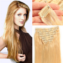 BHF Hair Soft And Thick White Clip in Hair Extension,20-22 Inch 140g One Piece Clip in Hair Extensions For White Women