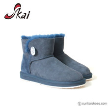 Australian sheepskin navy blue bailey button ankle girls boots short boots for ladies 2017